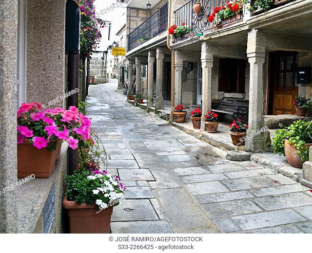 Street in Combarro. Pontevedra.Galicia. Spain. Europe