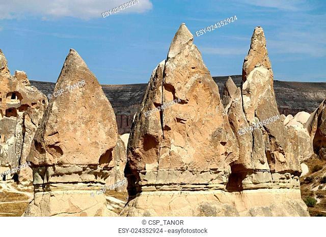 mountains in Cappadocia Turkey