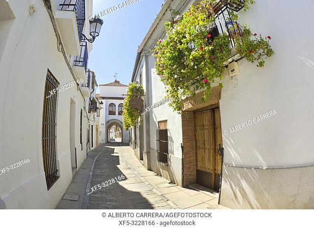 Arco de Jerez, Intramural View, Old Town, Zafra, Badajoz, Extremadura, Spain, Europe