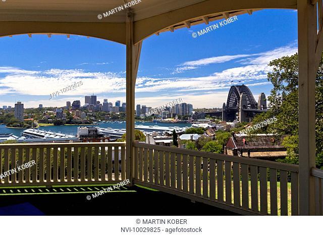 The Harbor Bridge overlooking the harbor, Sydney, Australia