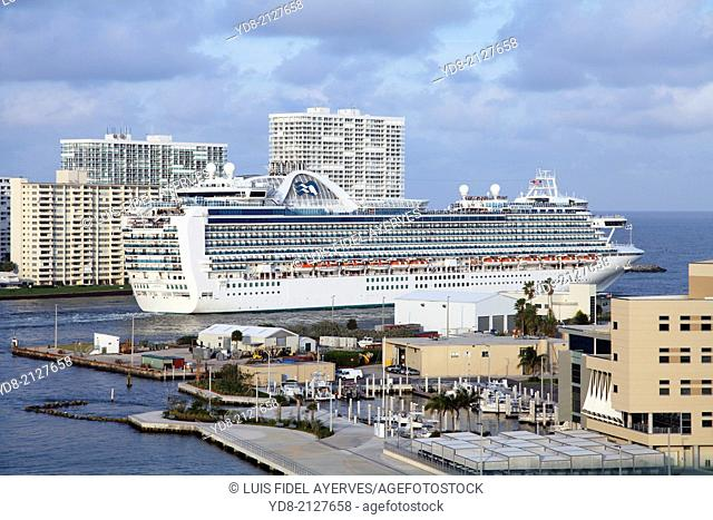 Cruise Port Fort Lauderdale, Florida, USA