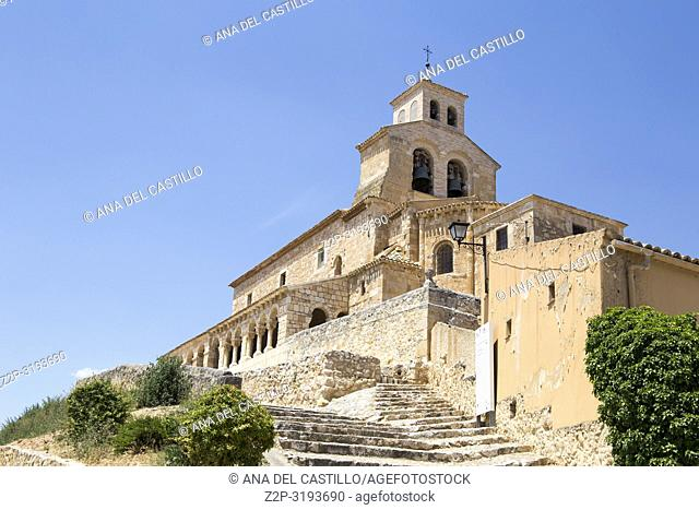 Our lady of Rivero church San Esteban de Gormaz village Soria province Castile Leon Spain