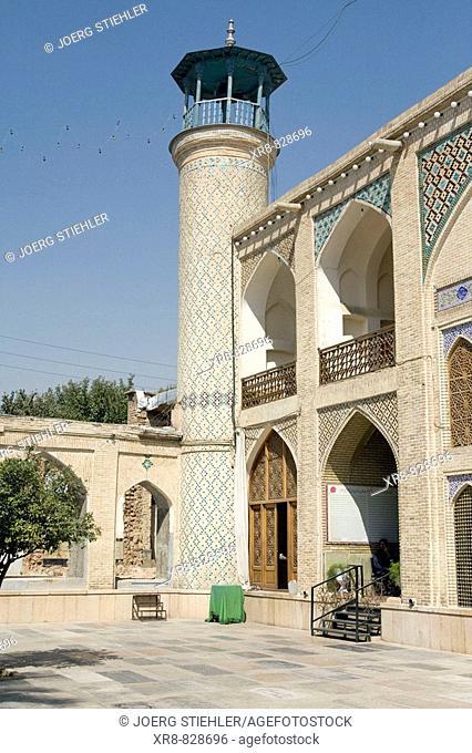 Iran, Shiraz, Mosque Hafezieh Street Court inside