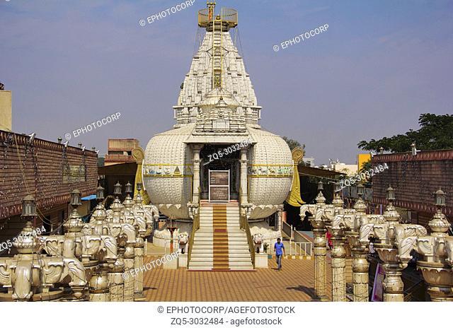 Close view of Shree Shankheshwar Parshnath Tirth - Jain Kalash Temple, Temple in shape of kalash, Somatane Toll Plaza at Pune