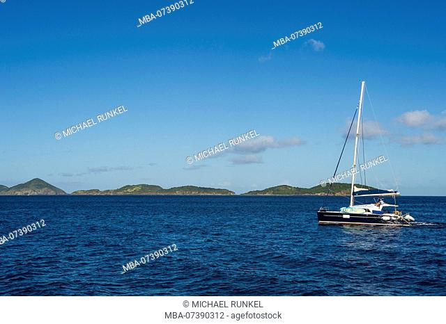 Sailing boat, Jost Van Dyke, British Virgin Islands