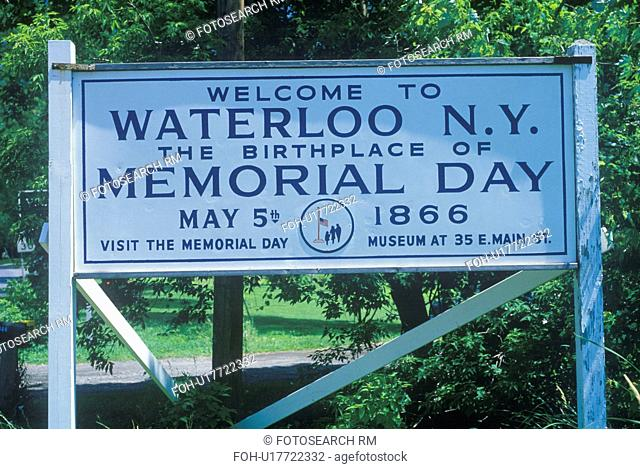 """A sign that reads """"Welcome to Waterloo N.Y."""""""