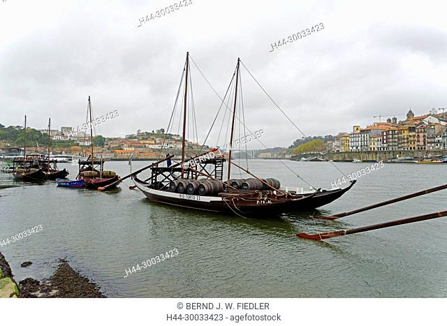 Duoro, Weintransportschiffe, Rabello, historisch, Museumsschiffe
