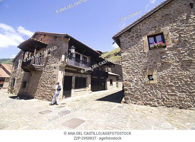 Barcena Mayor is one of the most beautiful villages in Spain . Cantabria, Spain
