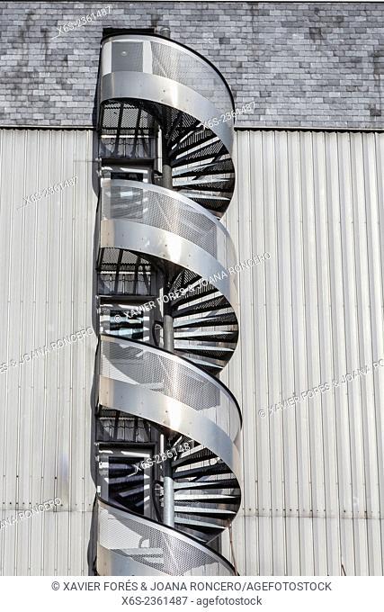 Spiral staircase in Chambery, Savoie, Rhône-Alps, France