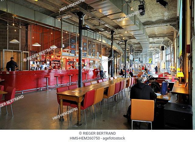 France, Loire Atlantique, Nantes, Lieu Unique Art Centre, cafe