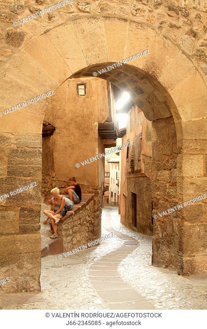 Arch of Portal de Molina in Albarracín. Teruel province. Spain