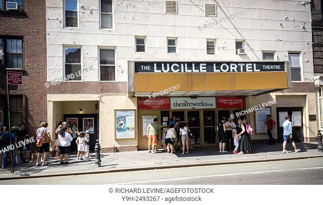 The historic Lucille Lortel Theater on Christopher Street in Greenwich Village in New York