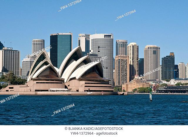 Sydney Opera House and Central Business District, NSW, Australia