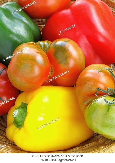 Tomato and pepper, Solanum lycopersicum,Capsicum