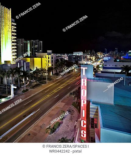 Hotels Lining a City Street