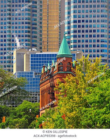 Gooderham Building (Flatiron Building) in downtown Toronto, Ontario, Canada