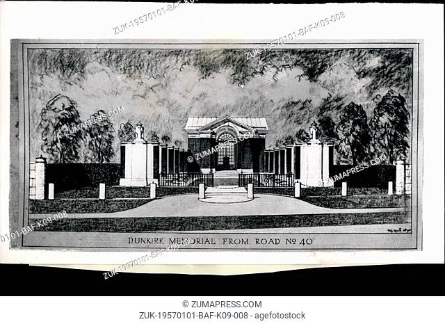 Jan. 01, 1957 - Queen Mother to unveil Dunkirk Memorial: The Dunkirk Memorial which Queen Elizabeth the Queen Mother will unveil on Saturday, June 29th, 1957