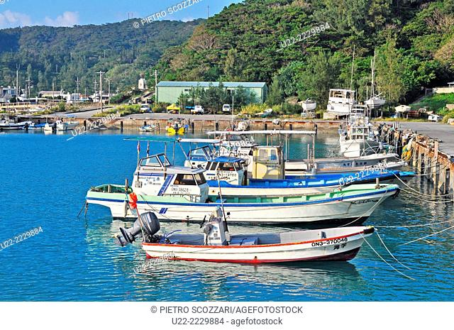 Zamami, Okinawa, Japan: fishing boats at the port