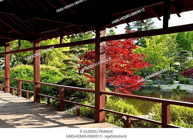 France, Loire Atlantique, Nantes, European Green Capital 2013, Ile de Versailles, Japanese garden