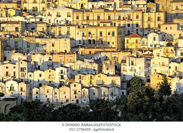 View of the town of Ferrandina, district of Matera, Basilicata, Italy, Europe