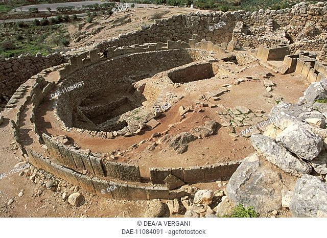 Greece - Peloponnesus - Mycenae. Circular precinct and royal graves