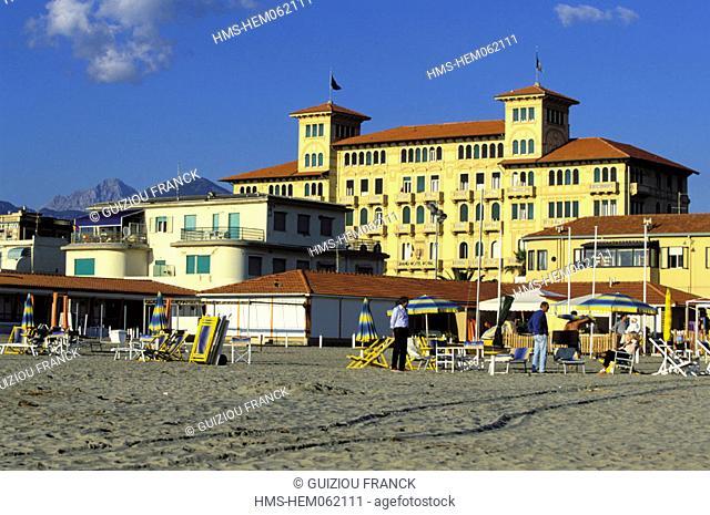 Italy, Tuscany, la Versilia, Viareggio, the Grand Hotel Royal