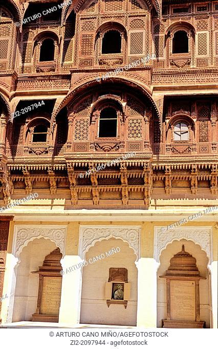 Mehrangarh Fort, Jodhpur, Rajasthan state, India