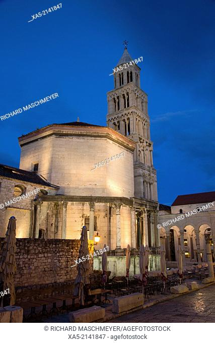 Cathedral of St Domnius in early morning, Diocletian's Palace, Split, Croatia