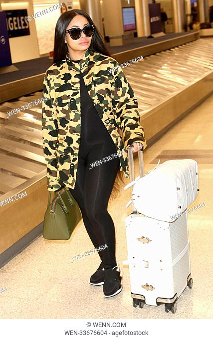 Blac Chyna at Los Angeles International Airport arrivals, in Los Angeles, California. Featuring: Blac Chyna Where: Los Angeles, California