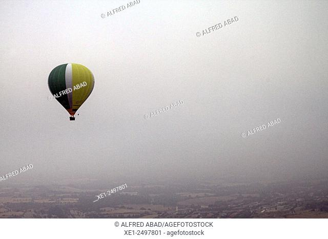 Hot air balloon, Anoia, Barcelona province, Catalonia, Spain