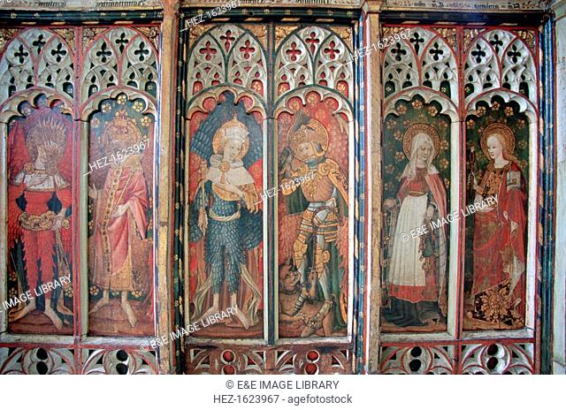 Rood screen in St Michael's Church, Barton Turf, Norfolk