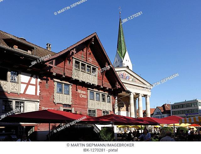 Red House, St. Martin's Church, Dornbirn, Vorarlberg, Austria, Europe