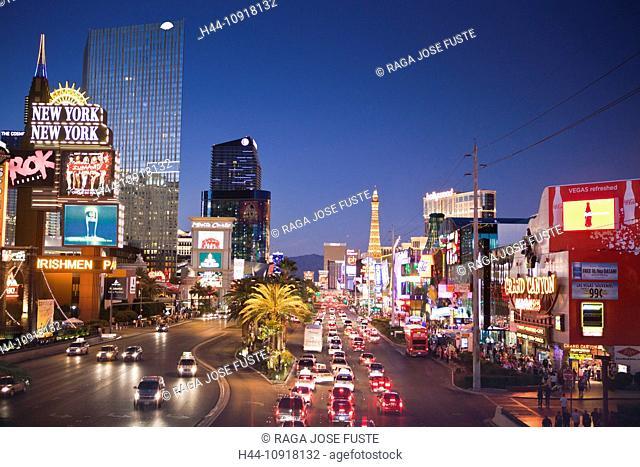 USA, United States, America, Nevada, Las Vegas, City, Strip, Avenue, architecture, attraction, bright, colourful, different, dream, famous, fantasy, luxury