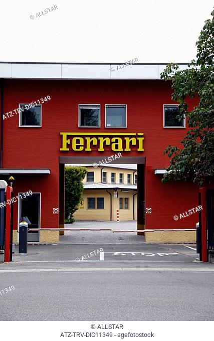 FERRARI FACTORY ENTRANCE; MARANELLO, ITALY; 07/09/2010