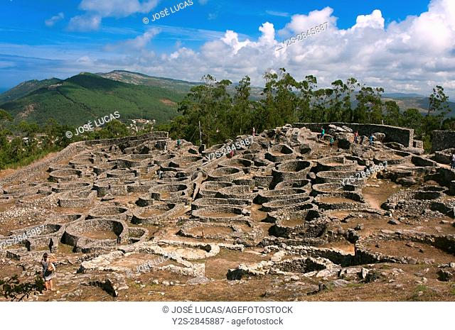 "The Celtic settlement of """"Castro de Santa Tecla"""" - first century BC, La Guardia, Pontevedra province, Region of Galicia, Spain, Europe"