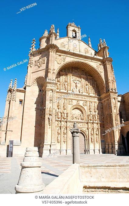 Facade of the church. San Esteban monastery, Salamanca, Castilla Leon, Spain