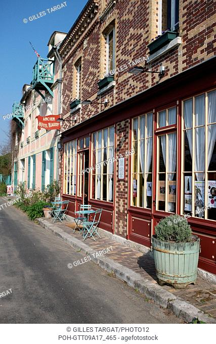tourism, France, upper normandy, eure, vallee de la seine, valley, giverny, former hotel baudy, restaurant, hostel, claude monet, impressionnists, painting