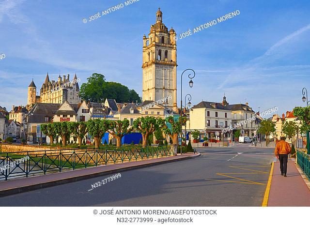 Loches, Castle, Logis Royal Castle, Chateau de Loches, Saint Antoine tower, Indre-et-Loire, Touraine, Pays de la Loire, Loire Valley, UNESCO World Heritage Site