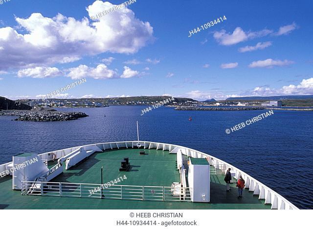 Ferry, boat, Port aux Basques, Newfoundland, Canada, sea