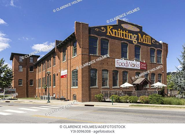 The Knitting Mill, a re-purposed textile mill on the North Shore in Chattanooga, Tennessee