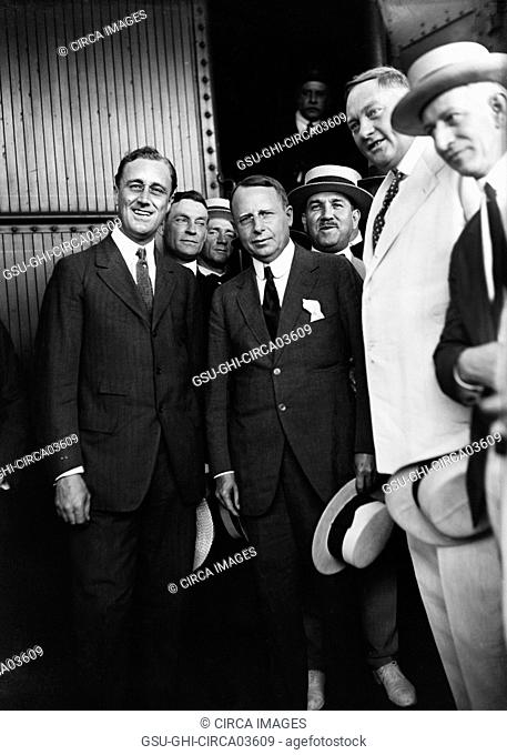 Franklin Roosevelt (left), with James Cox (right), Democratic Nominee for President, at Campaign Appearance, Washington DC, USA, Harris & Ewing, 1920