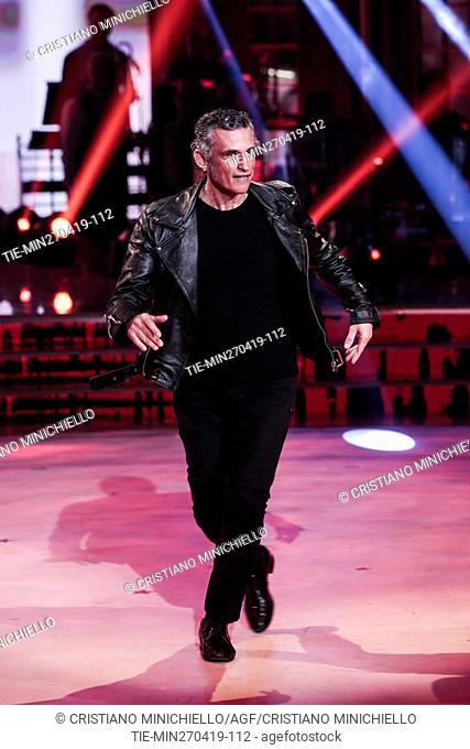 Enrico Lo Verso during the performance at the tv show Ballando con le stelle (Dancing with the stars) Rome, ITALY-27-04-2019