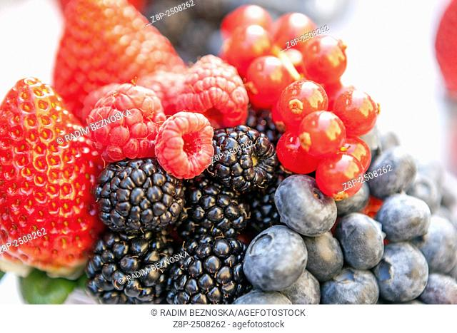 Different colourful berries