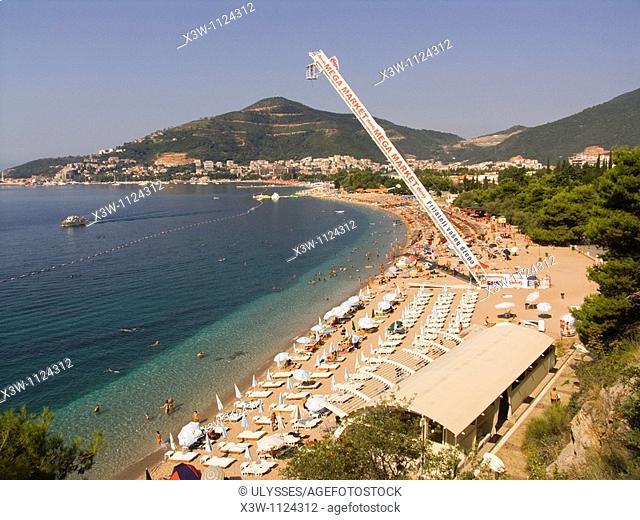 europe, montenegro, budva, beach