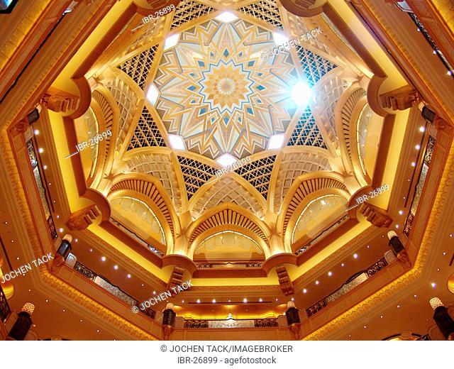 ARE, United Arab Emirates, Abu Dhabi: Emirates Palace, 7 star luxury hotel at the arabian gulf coast