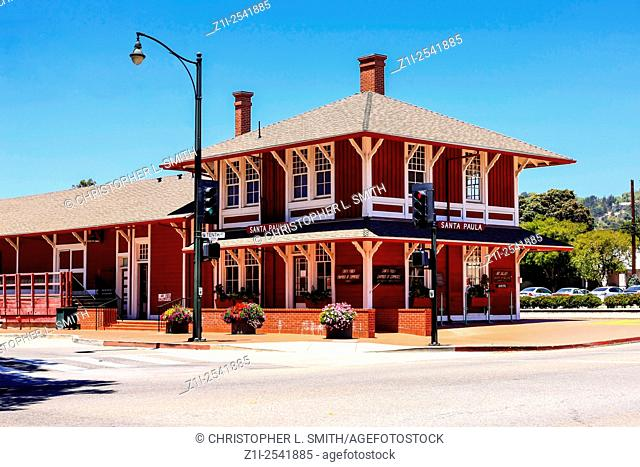 The Santa Paula Railway Plaza and Station in this small California city