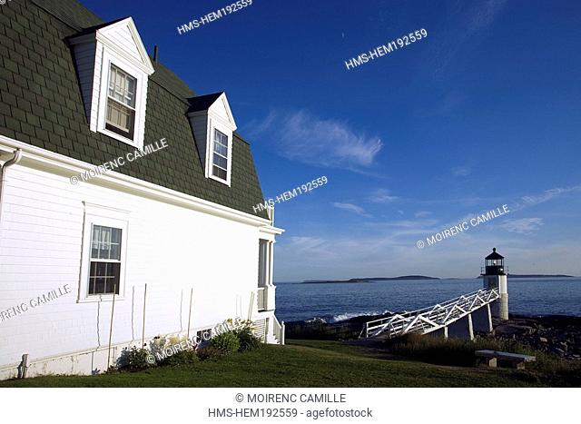 United States, Maine, Rockland area, Marshall Point Lighthouse