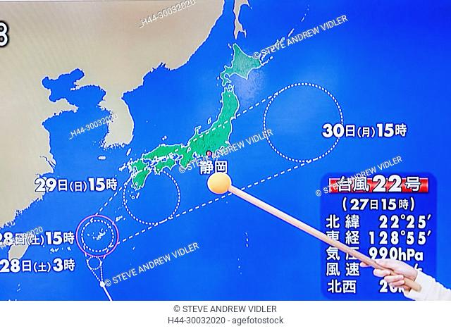 Japanese Weather Forecast Typhoon Stock Photos And Images Age
