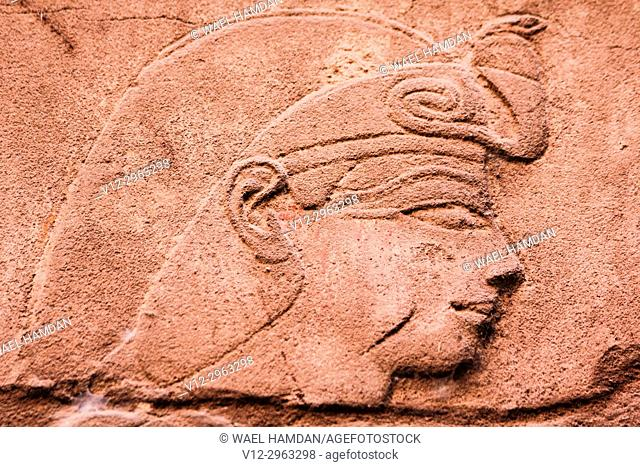 A relief at temple in Luxor, Egypt