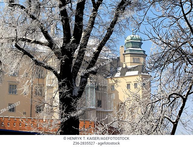 Poland, Krakow, Sigismund s Cathedral and Chapel as part of Royal Castle at Wawel Hill